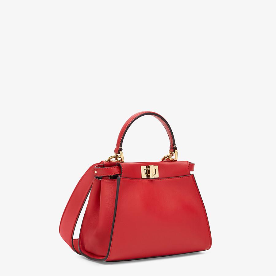 FENDI PEEKABOO ICONIC MINI - Red leather bag - view 3 detail