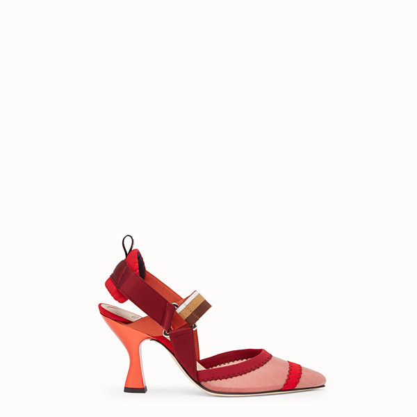 FENDI COURT SHOES - Red mesh slingbacks - view 1 small thumbnail