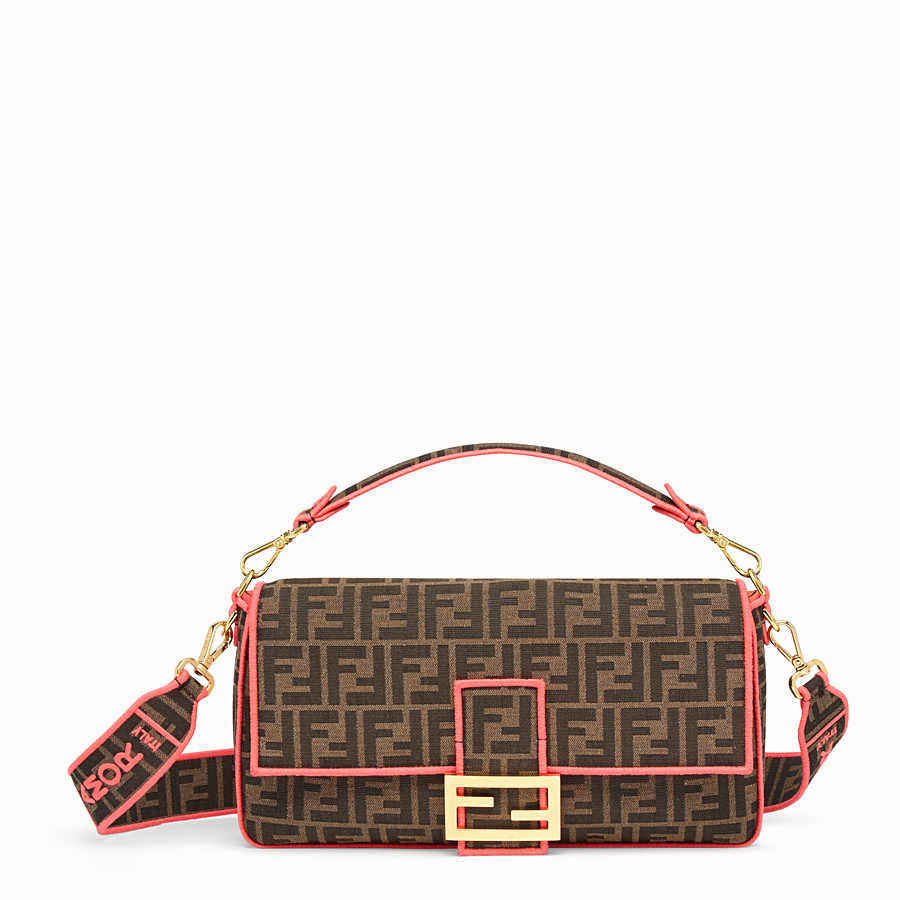FENDI BAGUETTE LARGE - Fendi Roma Amor fabric bag - view 1 detail