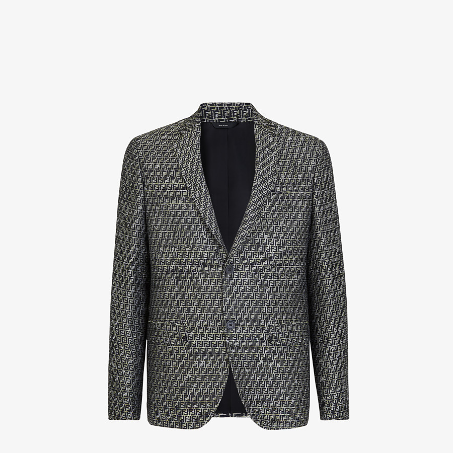 FENDI JACKET - Green jacquard blazer - view 1 detail