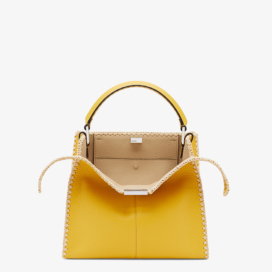 FENDI PEEKABOO X-LITE MEDIUM - Yellow leather bag - view 1 detail
