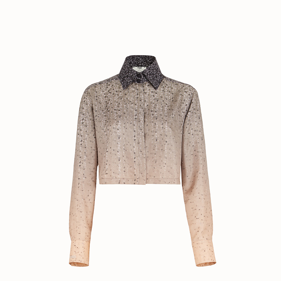FENDI SHIRT - Beige twill shirt - view 1 detail