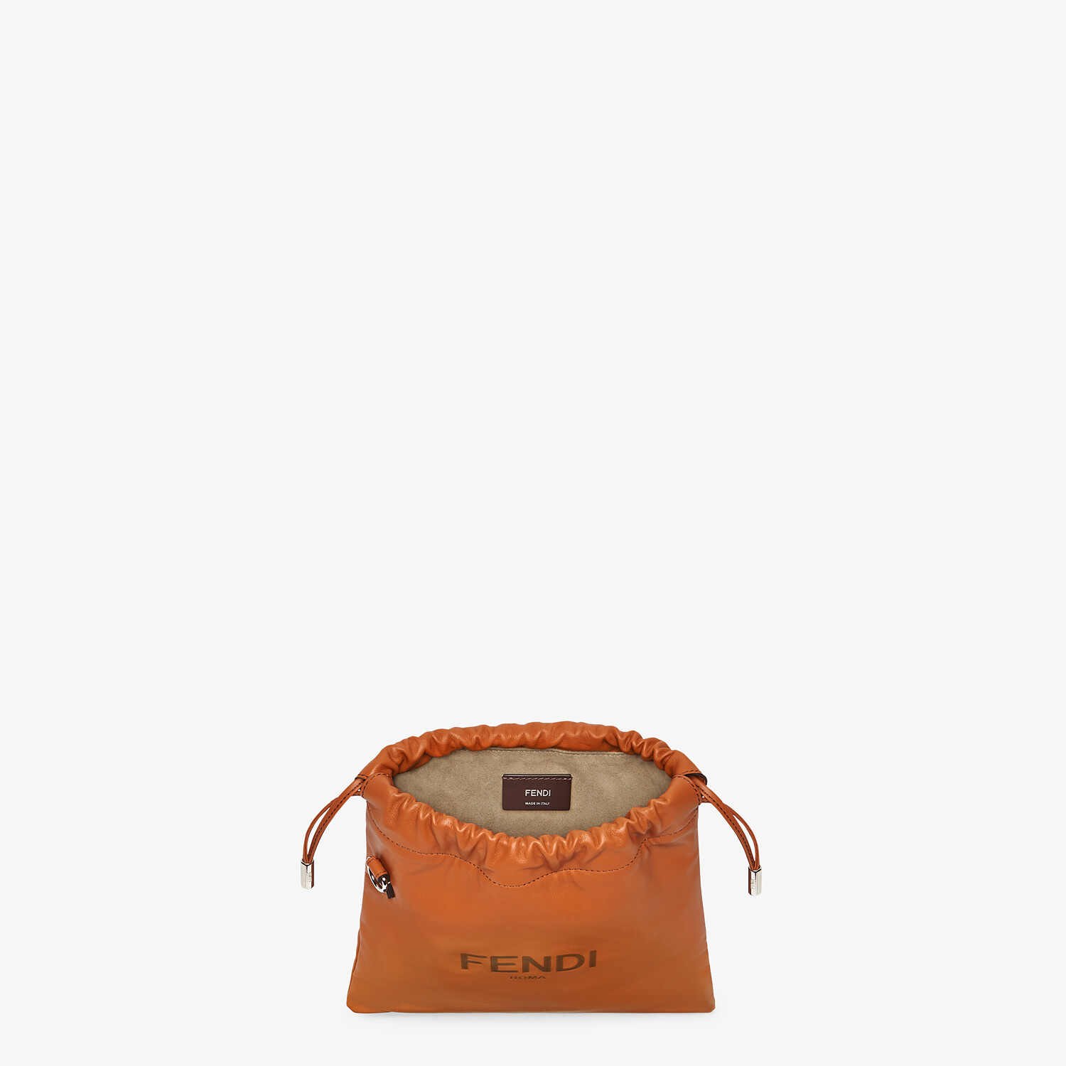FENDI FENDI PACK SMALL POUCH - Brown leather bag - view 4 detail