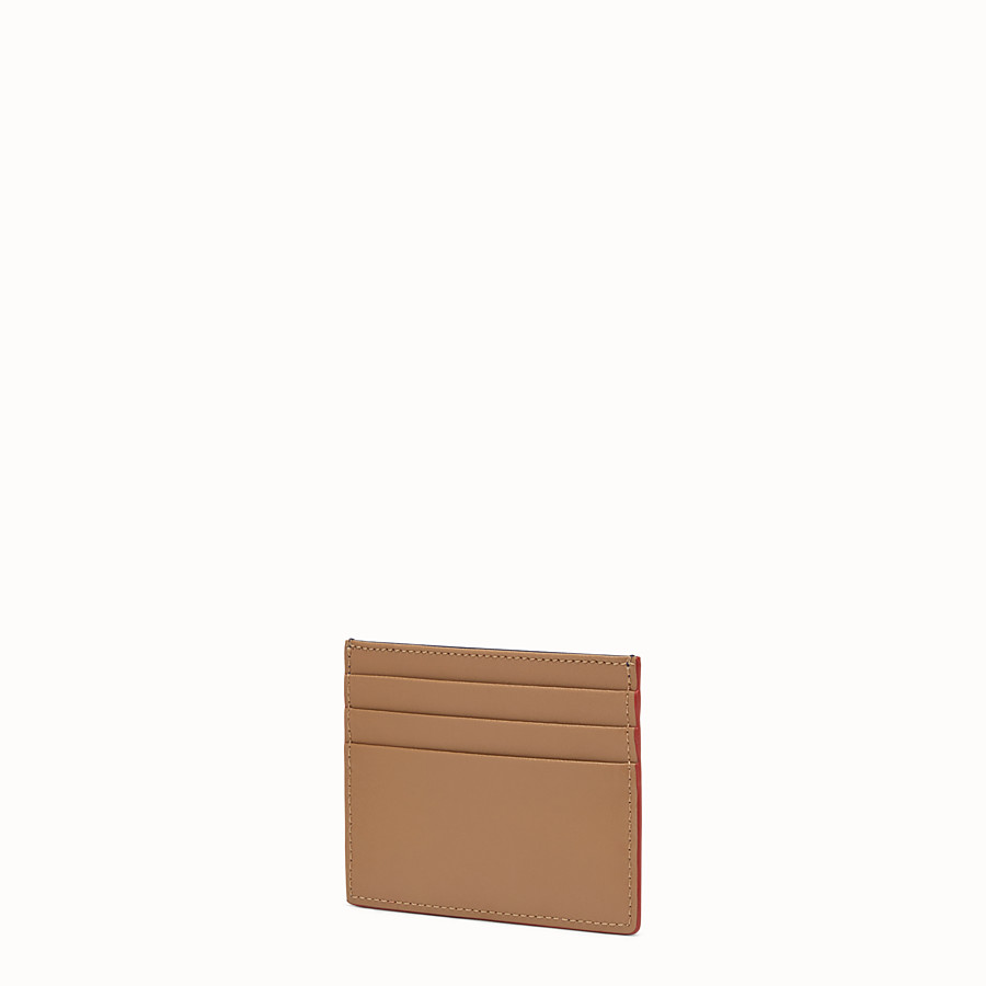 FENDI CARD HOLDER - Two-tone leather card holder with six slots - view 2 detail