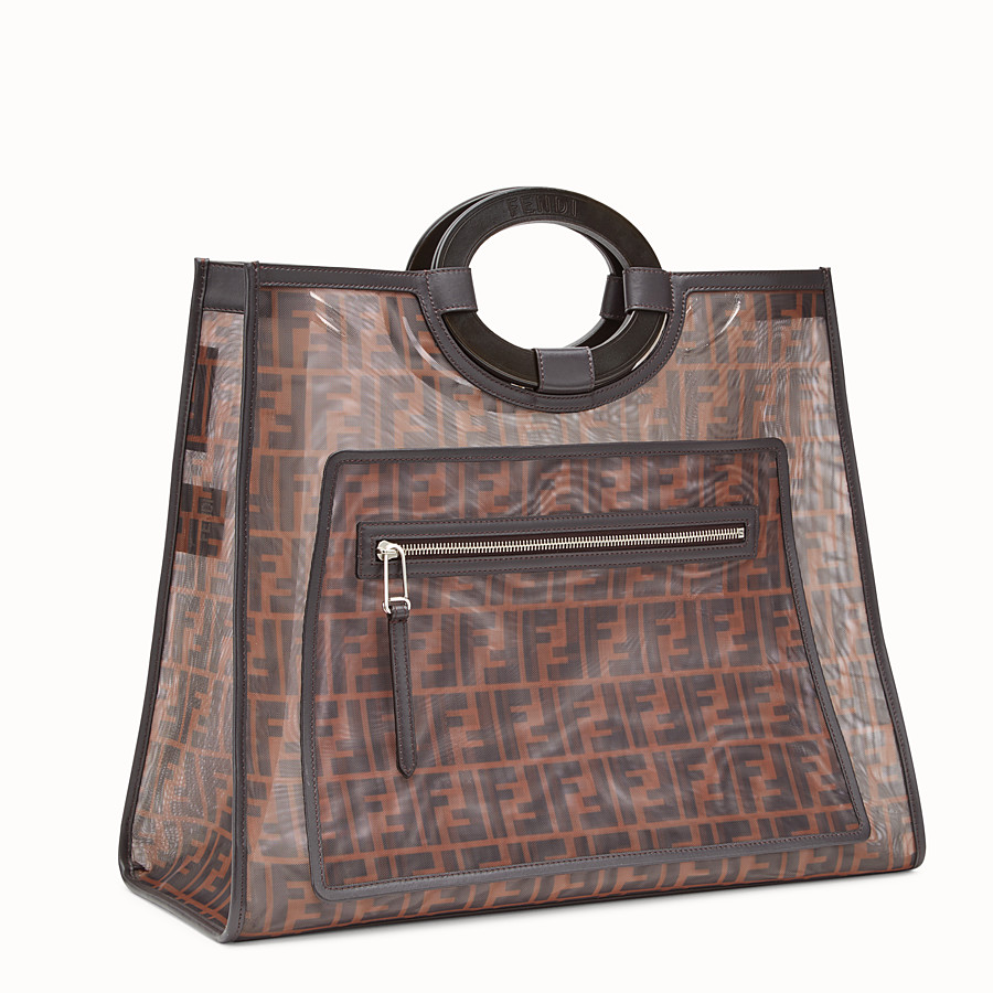 FENDI RUNAWAY SHOPPER - Multicolor mesh shopper - view 2 detail