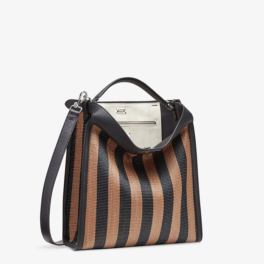 FENDI PEEKABOO X-LITE FIT - Brown raffia bag - view 3 detail