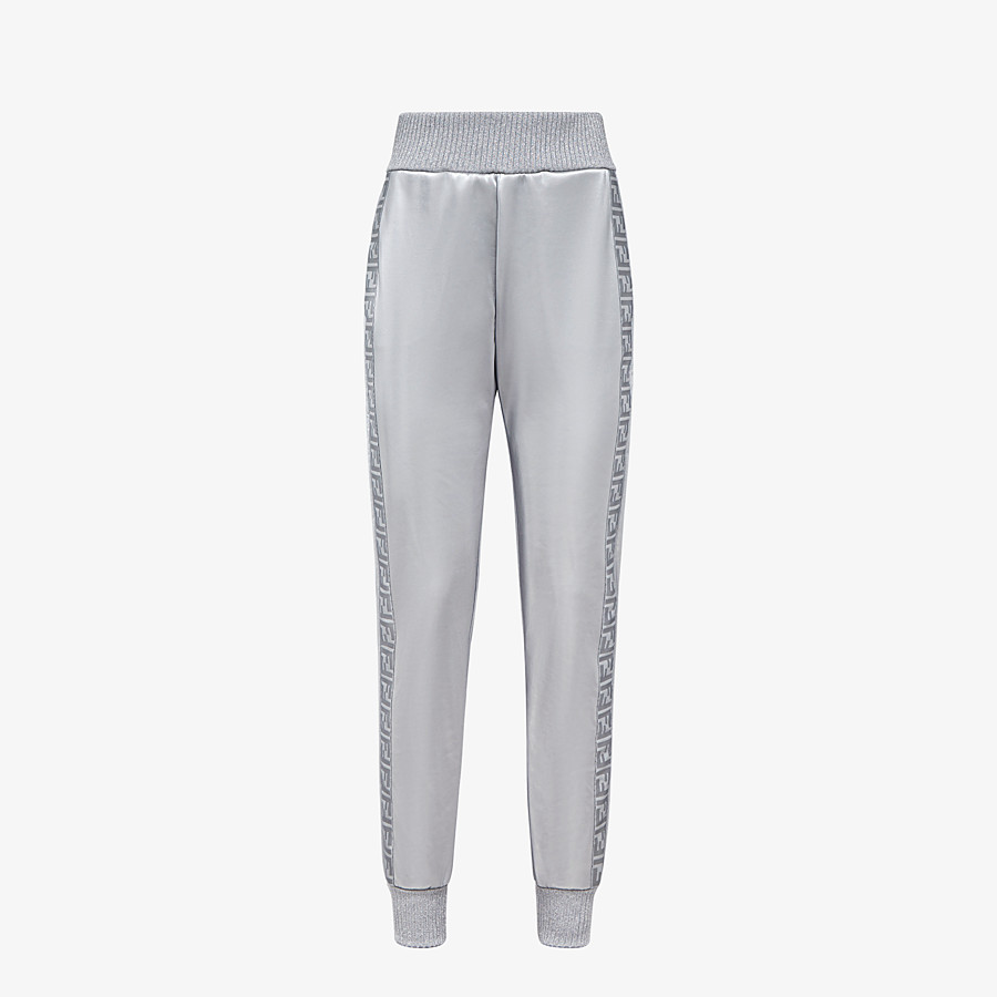 FENDI pants - Silver tech fabric jogging pants - view 1 detail