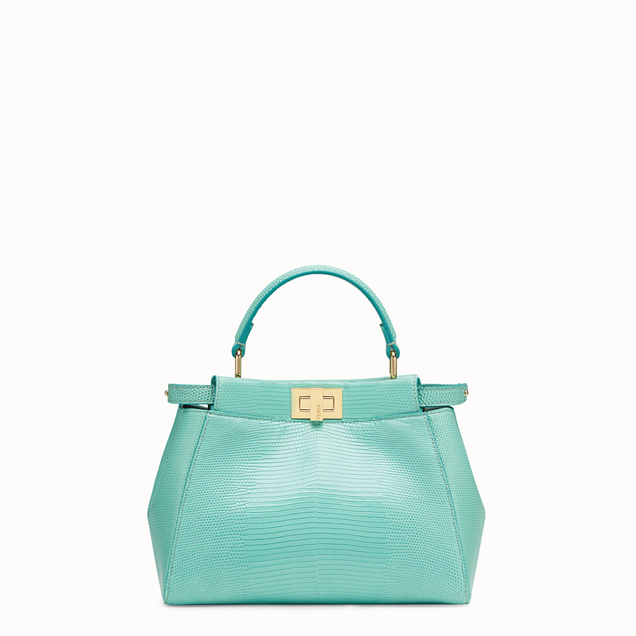 FENDI PEEKABOO ICONIC MINI - Green lizard leather bag - view 1 detail