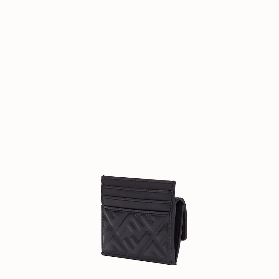 FENDI CARD HOLDER - Black nappa leather card holder - view 2 detail