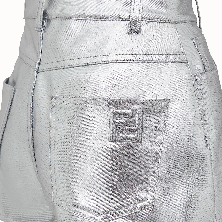 FENDI SHORTS - Fendi Prints On denim shorts - view 3 detail