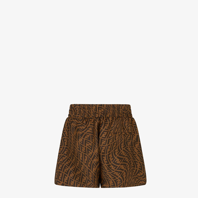 FENDI BERMUDAS - Brown silk pants - view 2 detail