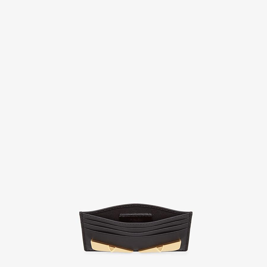 FENDI CARD HOLDER - Black leather card holder - view 3 detail