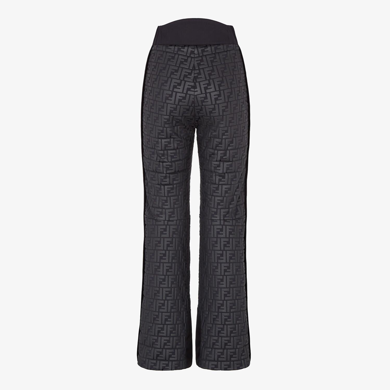FENDI SKI pants - Black nylon pants - view 2 detail
