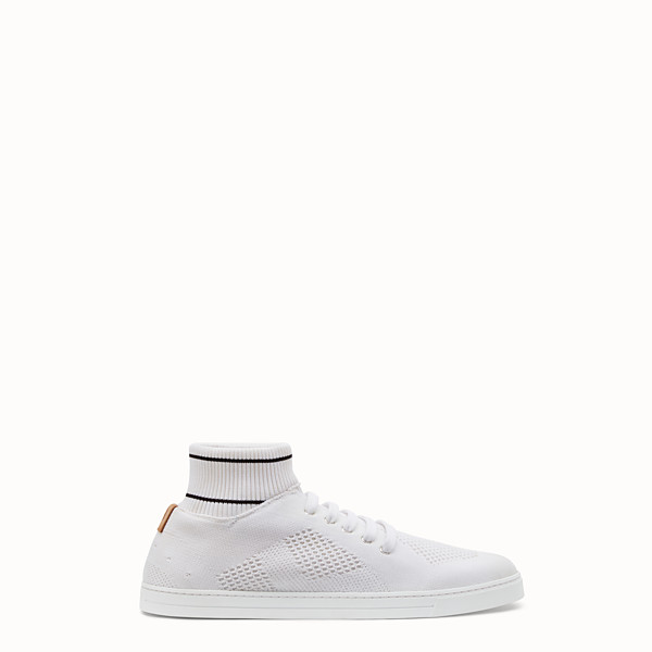 FENDI SNEAKERS - White tech knit low-tops - view 1 small thumbnail
