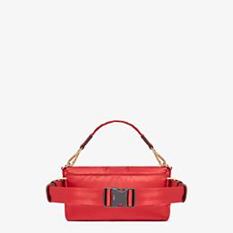 FENDI BAGUETTE FENDI AND PORTER - Tasche aus Nylon in Rot - view 3 thumbnail