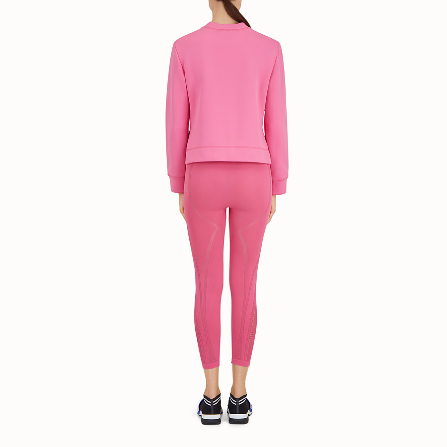 FENDI SWEATSHIRT - Pink fabric sweatshirt - view 3 detail