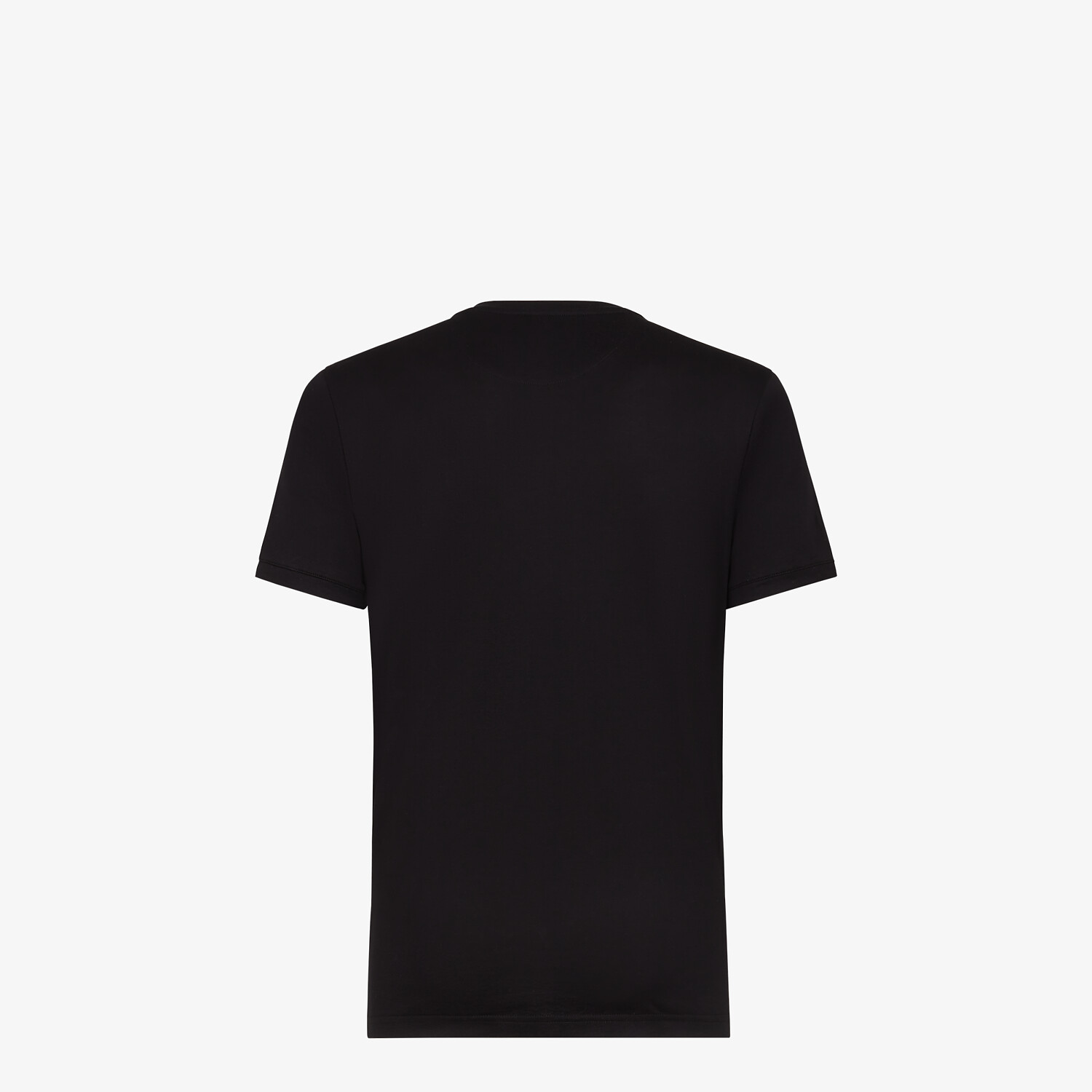 FENDI T-SHIRT - Black cotton T-shirt - view 2 detail