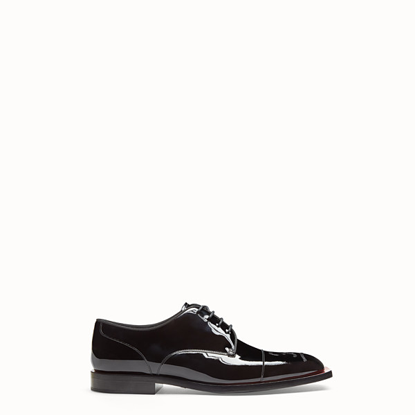 FENDI LACE-UPS - Black patent leather lace-up - view 1 small thumbnail