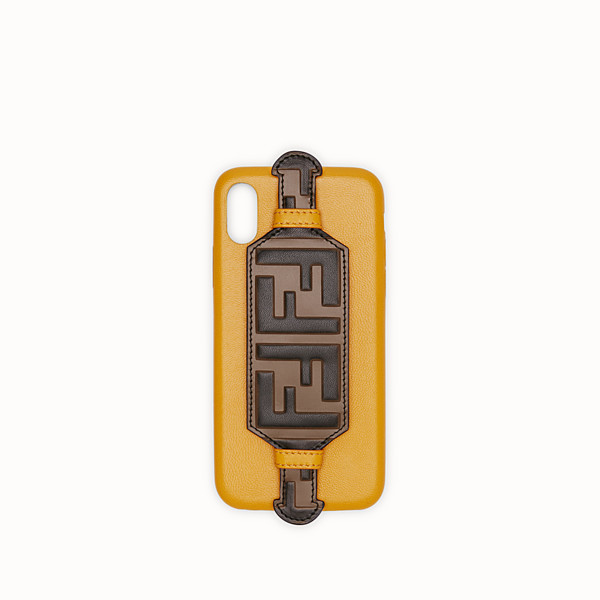 FENDI iPHONE X CASE - Yellow cover - view 1 small thumbnail