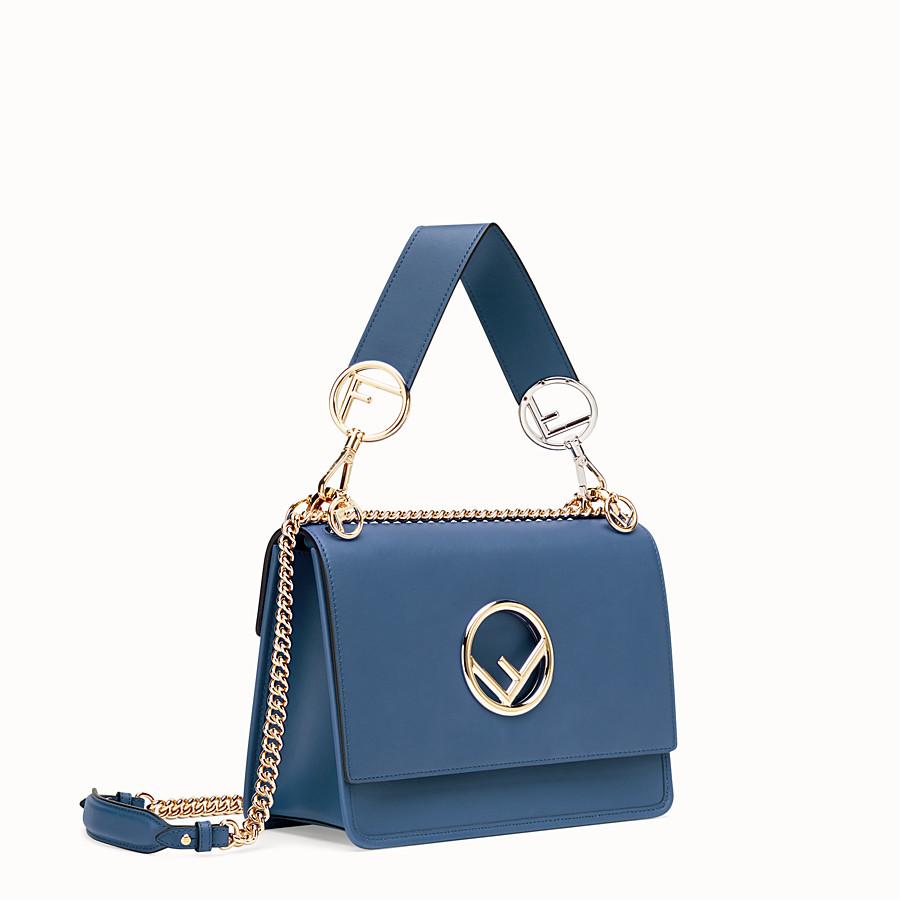 FENDI KAN I LOGO - Blue leather bag - view 2 detail