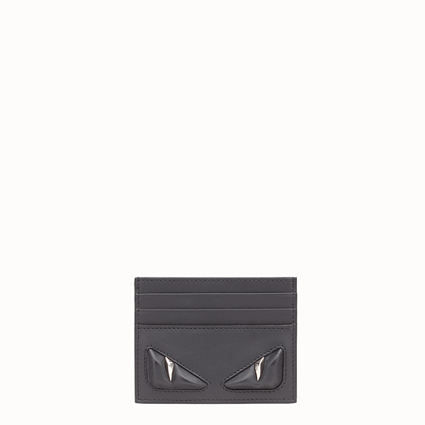 FENDI CARD HOLDER - Six-slot black leather card holder - view 1 small thumbnail
