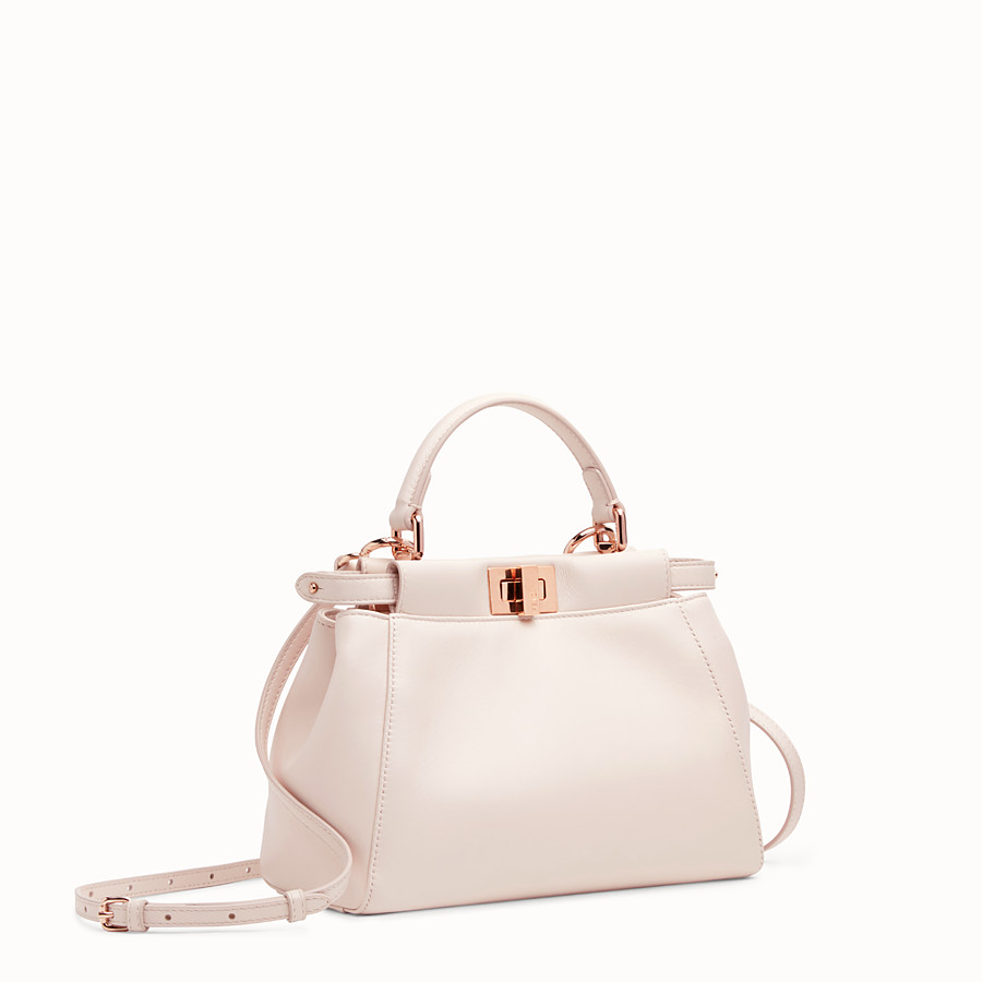 FENDI PEEKABOO ICONIC MINI - Pink leather bag - view 2 detail