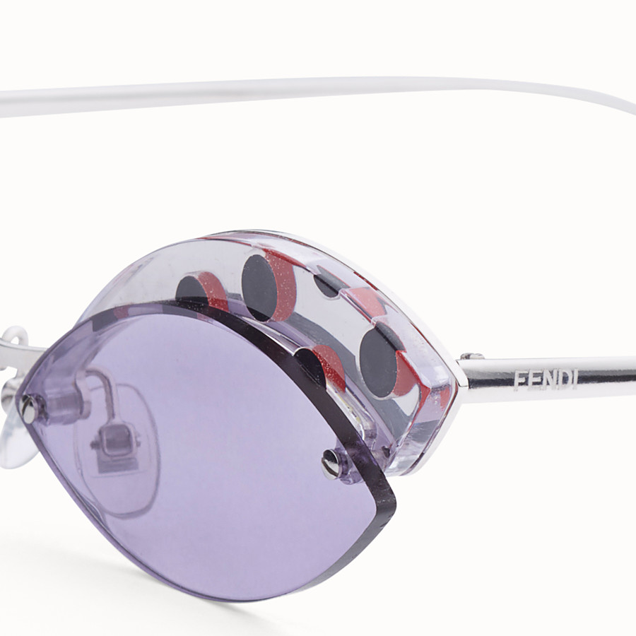 FENDI DEFENDER - Polka dots sunglasses - view 3 detail