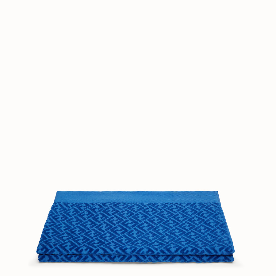 FENDI BEACH TOWEL - Blue cotton beach towel - view 2 detail