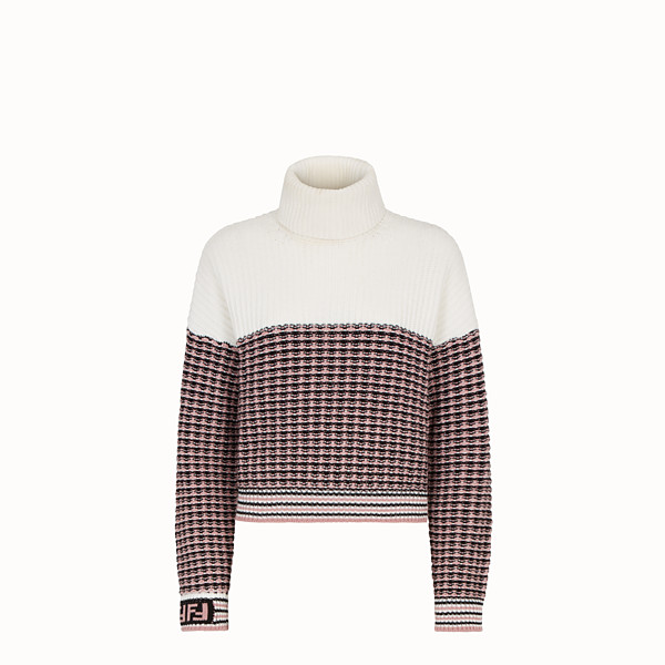 FENDI PULLOVER - Micro-check wool sweater - view 1 small thumbnail