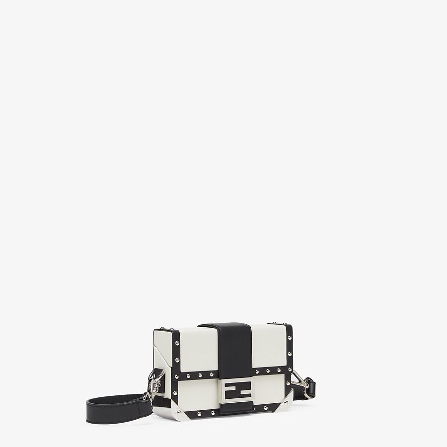 FENDI BAGUETTE TRUNK MINI - White leather bag - view 2 detail