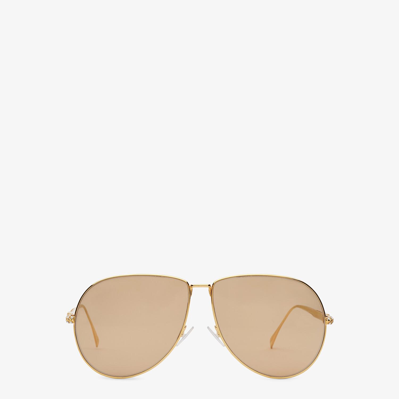 FENDI BAGUETTE - Gold-colored sunglasses - view 1 detail