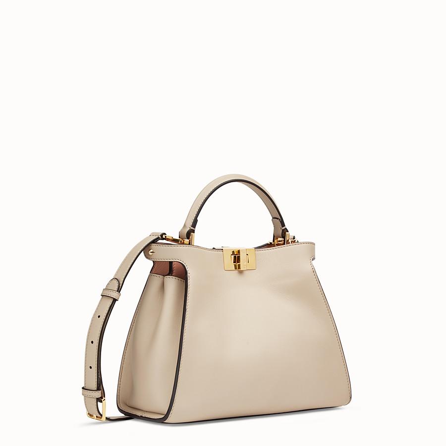 FENDI PEEKABOO ICONIC ESSENTIALLY - Beige leather bag - view 3 detail