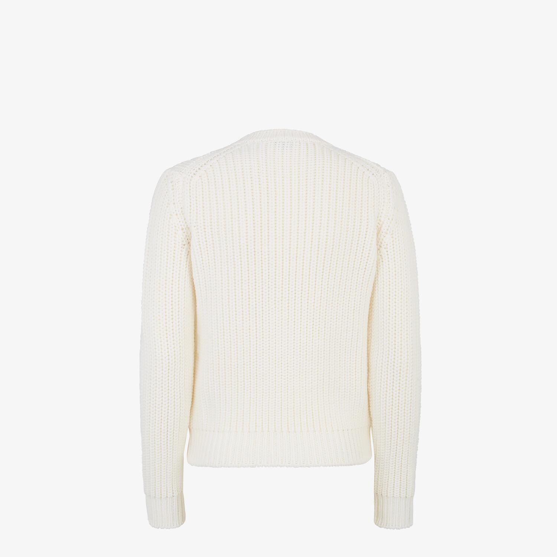 FENDI PULLOVER - White wool jumper - view 2 detail