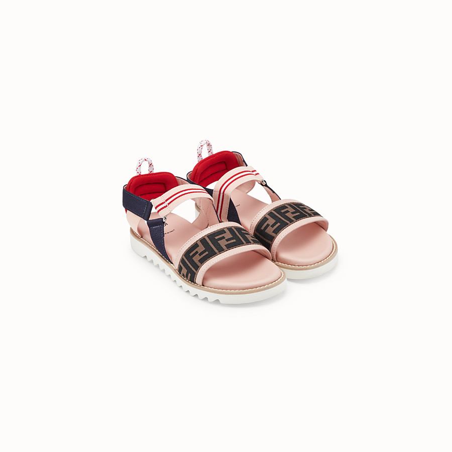 FENDI SANDALS - Pink neoprene sandals - view 2 detail