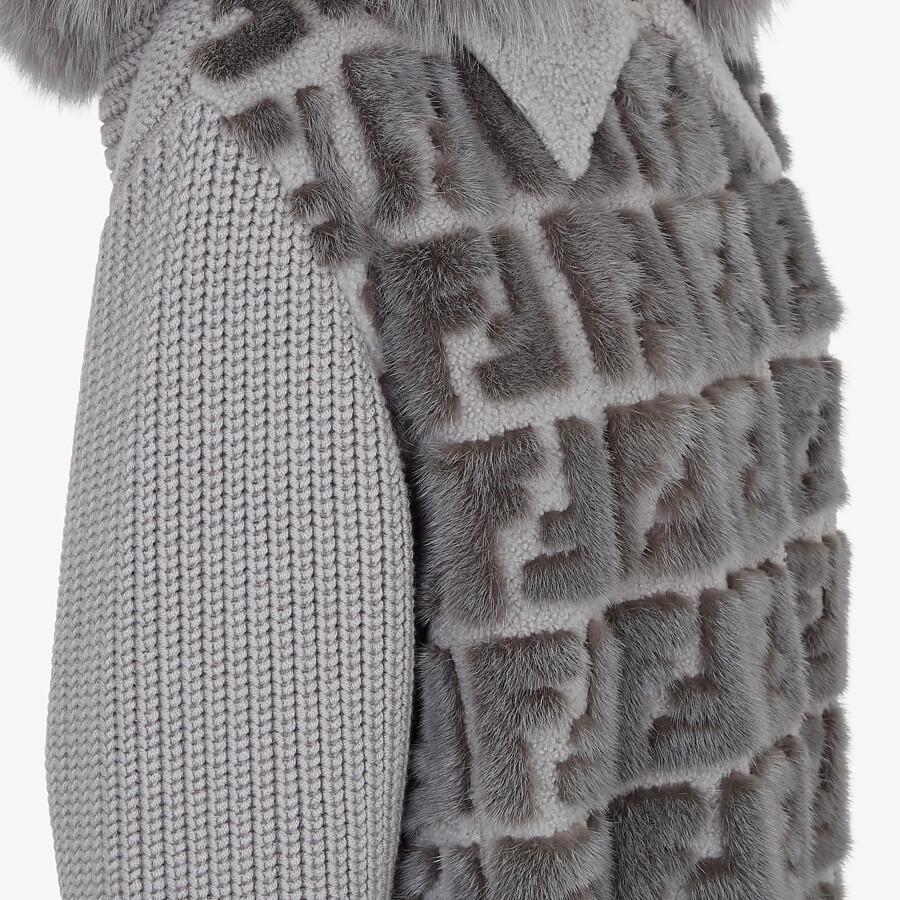 FENDI PARKA - Knit and inlaid mink fur parka - view 3 detail