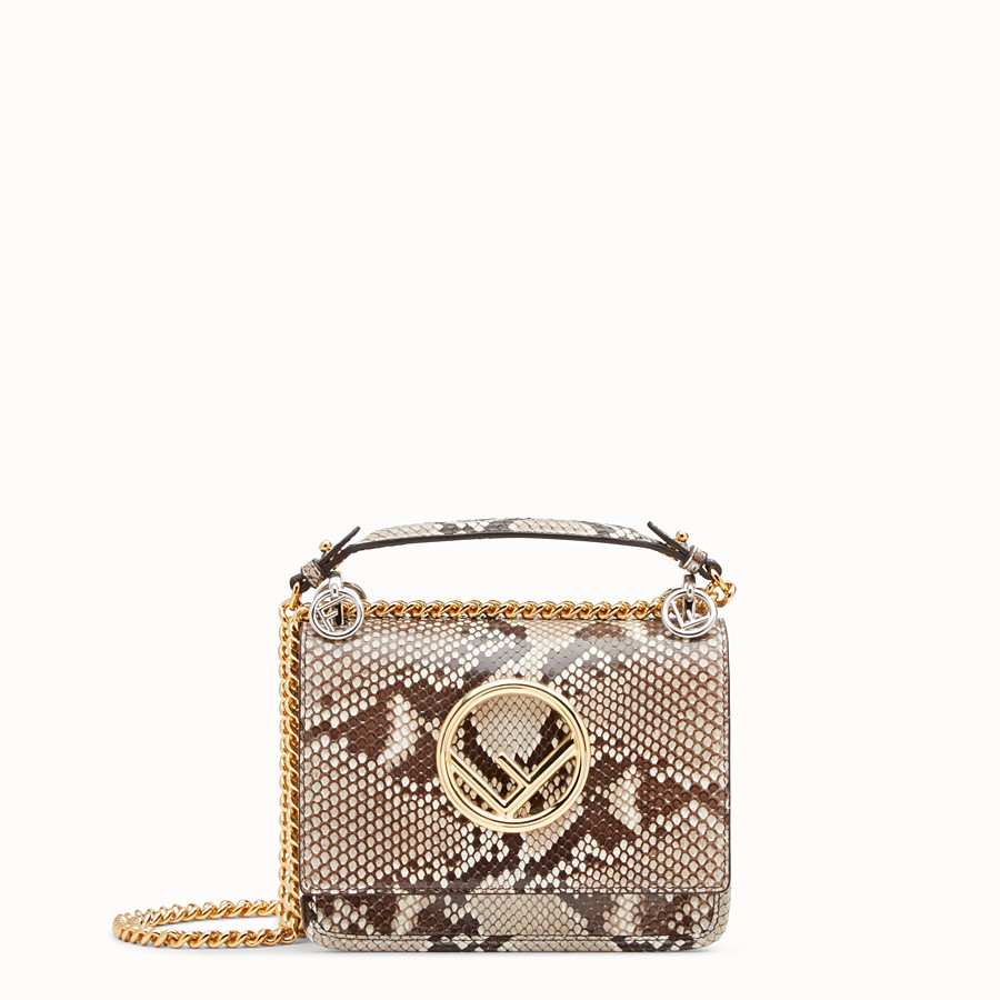 FENDI KAN I F SMALL - White python mini-bag - view 1 detail
