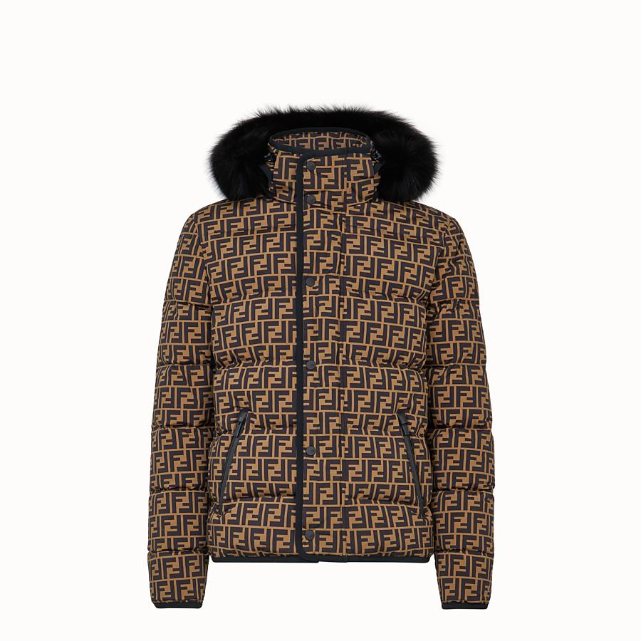 FENDI DOWN JACKET - Multicolour nylon down jacket - view 1 detail