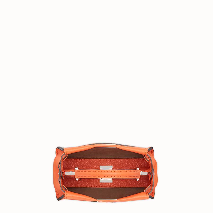 FENDI PEEKABOO MINI - Orange leather bag - view 4 detail
