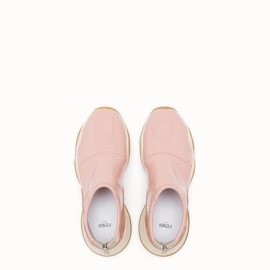 FENDI SNEAKERS - Glossy pink neoprene sneakers - view 4 detail