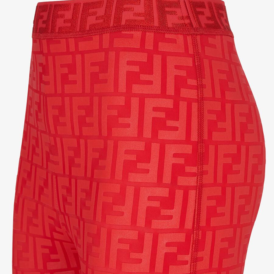 FENDI LEGGINGS - Red tech fabric leggings - view 3 detail
