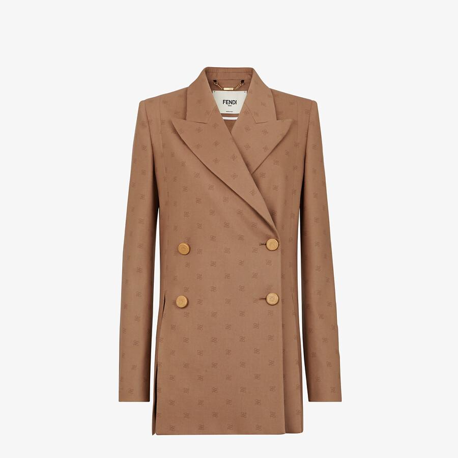 FENDI GIACCA - Blazer in lana marrone - vista 1 dettaglio