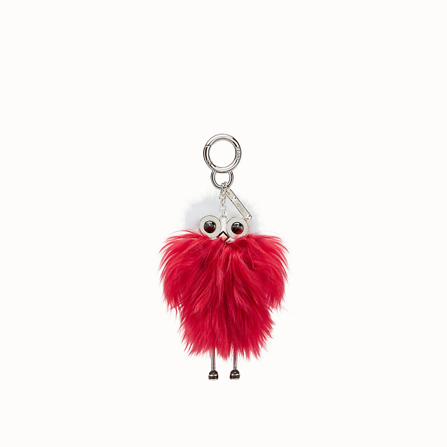 FENDI TEEN WITCHES CHARM - Raspberry red alpaca charm - view 2 detail