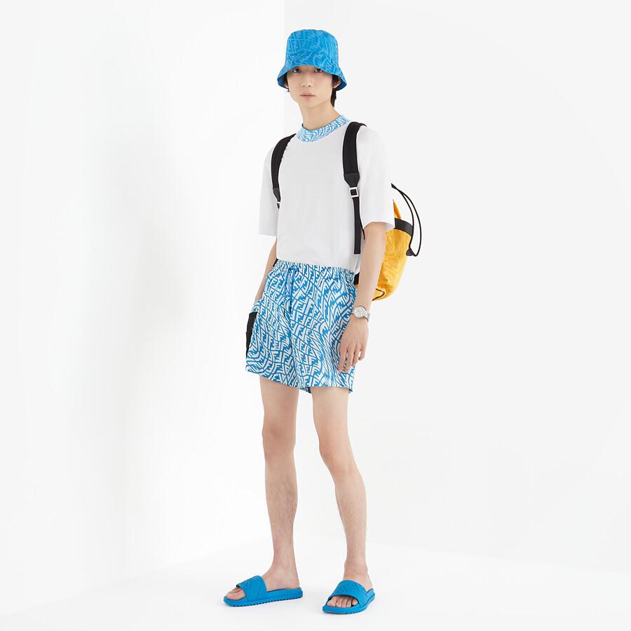 FENDI SWIM SHORTS - Multicolor Lycra® swimsuit - view 4 detail
