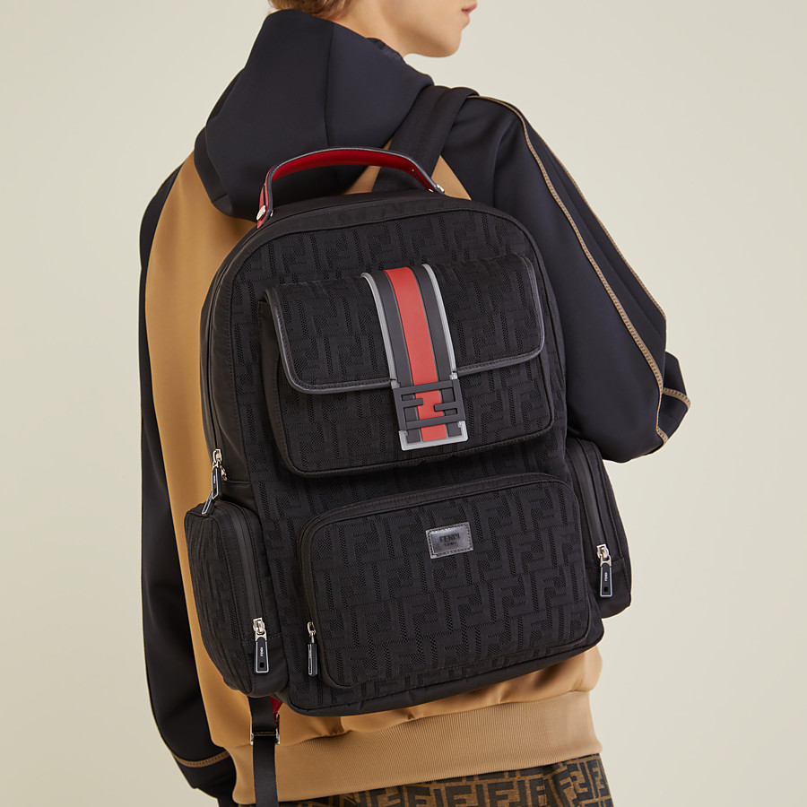 FENDI BACKPACK - Black tech fabric backpack - view 5 detail