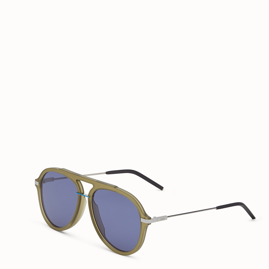 FENDI FENDI FANTASTIC - Green satin-finish sunglasses - view 2 detail