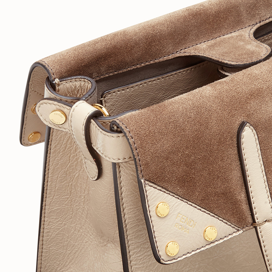FENDI FENDI FLIP MEDIUM - Beige leather bag - view 7 detail