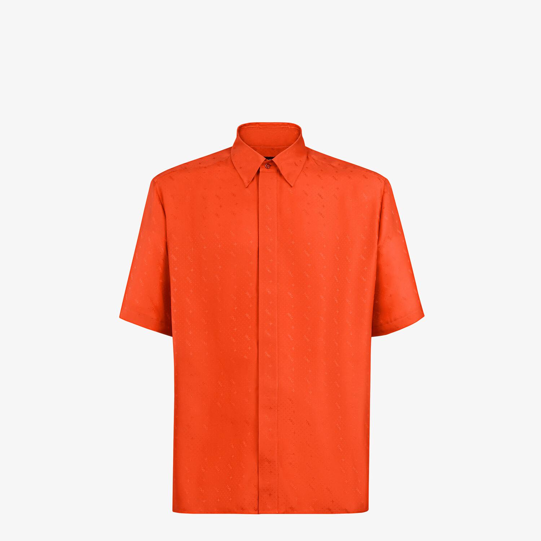 FENDI SHIRT - Red silk shirt - view 1 detail