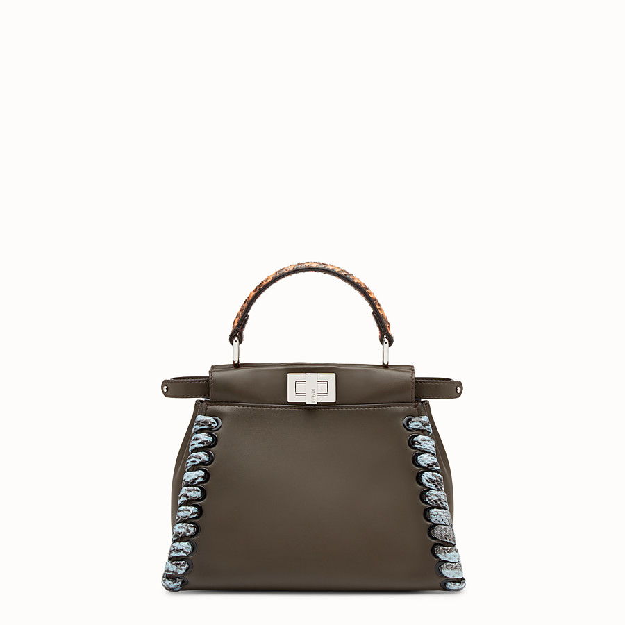 FENDI PEEKABOO MINI - Nappa leather handbag - view 1 detail