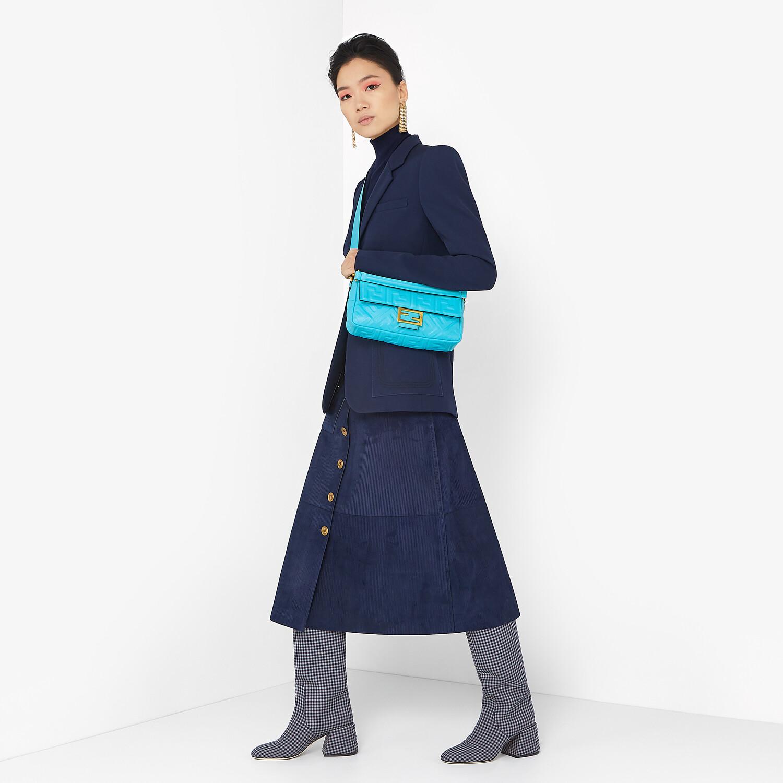 FENDI BAGUETTE - Light blue FF Signature nappa leather bag - view 2 detail