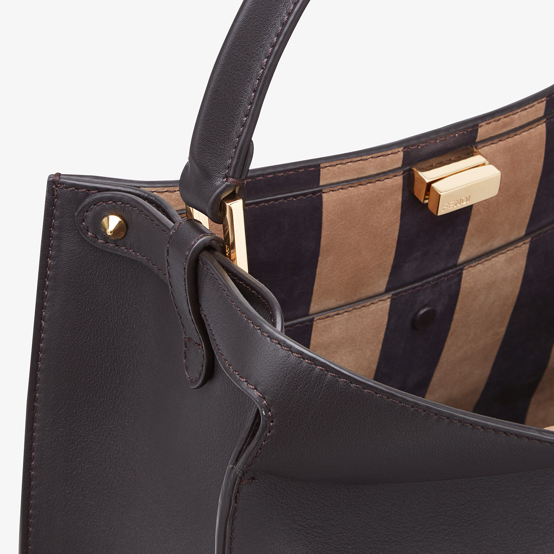 FENDI PEEKABOO X-LITE MEDIUM - Brown leather bag - view 7 detail